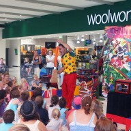Johnny The Jester Show At Shopping Centre Image
