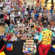 Johnny Entertaining Children With His Magic Show Image