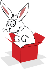Rabbit in a box image