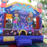 Front Of Its A Girl Thing Jumping Castle Image
