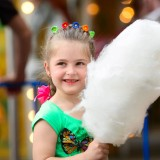 Child With Fairy Floss Image