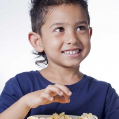 Child With Popcorn Image