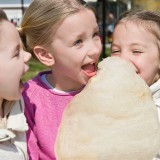Group Of Children With Fairy Floss